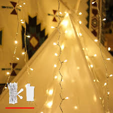 Mini White Light Strings Led String Lights By Mycozylite Plug In String Lights 49ft 100 Led Warm White Lights With Timer Waterproof Perfect For Indoor And Outdoor Use