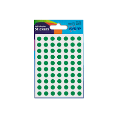Avery Packets Of Labels Round Diam 8mm Green Ref 32 302