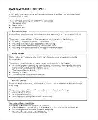 Caregiver Job Description For Resume Best of Resume Samples For Caregiver Caregiver Resume Examples Caregiver Job