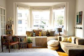 bay window coverings and decorative cushions