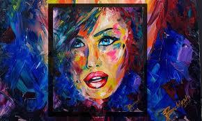 blue eyes original oil painting bachiyski art by petya nikolova