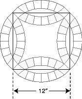 Great tutorial on sewing double wedding ring blocks together | 2 ... & Double Wedding Ring templates. Finished circular design is approximately  17
