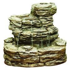 garden fountains home depot. Exellent Fountains Hampton Bay Cement Rock Fountain Throughout Garden Fountains Home Depot