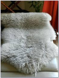 grey sheepskin rug costco fur white