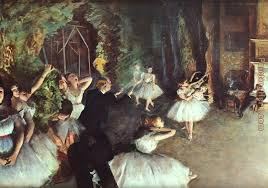rehearsal on the stage painting edgar degas rehearsal on the stage art painting