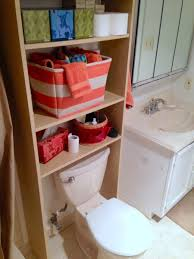 Above Toilet Storage squeeze in more storage over the toilet with this hack ikea 6111 by uwakikaiketsu.us