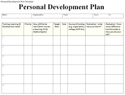 Professional Development Plan Template Luxury Personal Learning