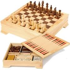 Wooden Games Compendium Wooden Games Compendium Chess Set Draughts Backgammon Crib Board 4