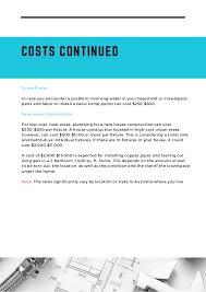 new construction plumbing cost per fixture. Modren Per COSTS CONTINUED  To New Construction Plumbing Cost Per Fixture