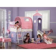 princess bunk beds with slide. Perfect Princess Castle Twin Size Tent Bunk Bed With Slide  Princess In Beds With S