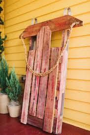 diy decorative sled