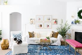 colorful living rooms with white walls. Bright And Colorful Living Room In Navy, Pink, Green, Mint Gold. Rooms With White Walls