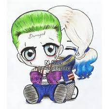 The Joker Harley Quinn The Joker Kresby Barevné Pastelky A