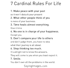 Top 40 Inspirational Quotes With Pictures SayingImages Stunning 7 Rules Of Life Quote