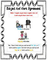 Subject And Verb Agreement Anchor Chart Money Subject Verb Agreement Sample Resume Cover Sheet For