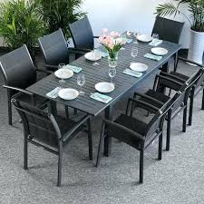 modern outdoor dining furniture chic table plastic sets inch round deck white plastic outdoor table