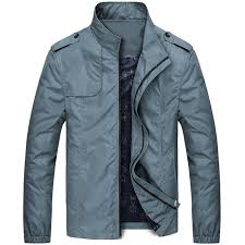 casual military style autumn winter jacket for men
