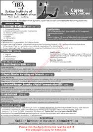 iba sukkur jobs 2016 online application form teaching iba sukkur jobs 2016 online application form teaching faculty others latest