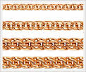 Плетения мужской золотой цепи