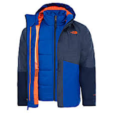 North Face Boys Jacket Size Chart The North Face Boys Boundary Triclimate Jacket Cosmic Blue