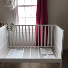 Find more *price Dropped* Ikea Sundvik Whitewashed Convertible Crib ...