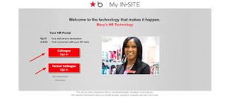 Self Design Sign In Login Process For Macys My In Site Online Portal