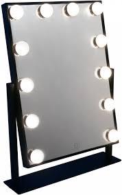zwarte visagiespiegel make up spiegel theaterspiegel hollywood spiegel met verlichting