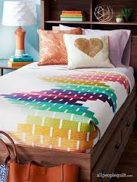 Best 25+ Bed quilts ideas on Pinterest | Bed quilt patterns, Nine ... & Ombre bed quilt by Megan Pitz of Canoe Ridge Creations. Trundle bed.  American Patchwork Adamdwight.com