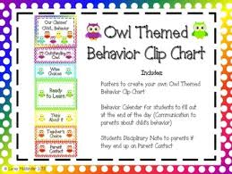 Owl Behavior Clip Chart Behavior Clip Chart Pack Owl Themed