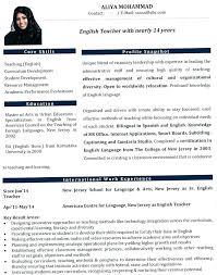 4 Example Template Cv English Docx Sample Free