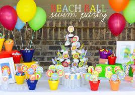 Beach Ball Decoration Ideas Beach Birthday Party IdeasCustomer Party Kids Birthday 8