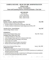 entry level healthcare resumes