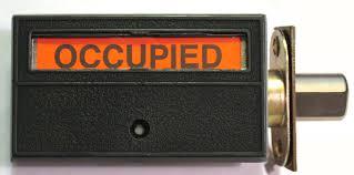 occupancy door lock occupied bathroom lock privacy indiactor lock