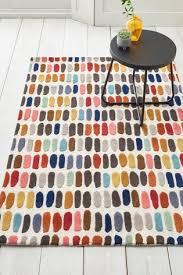 bright multicoloured sketch rug