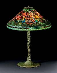 studios new york leaded favrile glass and patinated bronze poppy lamp