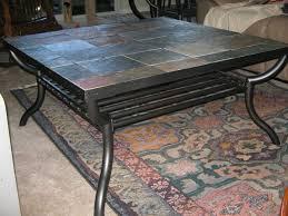 slate top coffee table black