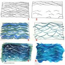 a guide to painting ripples in the ocean watercolor tutorialspainting