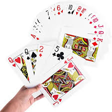 Caribbean stud poker is also a very common form of stud but, instead of being played in a poker card room, it is played in a casino. Amazon Com Giant Jumbo Deck Of Big Playing Cards Fun Full Poker Game Set Measures 5 X 7 Toys Games