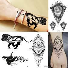 галактика планеты горные мужчины временные татуировки геометрия король лев