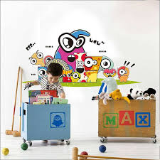 kids cartoon colorful wall stickers