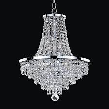 glow lighting vista 16 in 8 light silver pearl crystal clear glass empire chandelier
