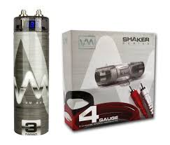 vm audio srpkr gauge ga car amplifier amp wiring kit farad vm audio srpk4r 4 gauge ga car amplifier amp wiring kit 3 farad power capacitor