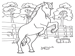 Small Picture Free Printable Horse Coloring Pages For Kids Within Horses esonme