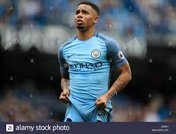 Manchester Citys Gabriel Jesus während der Premier League match bei Etihad  Stadium, Manchester Stockfotografie - Alamy