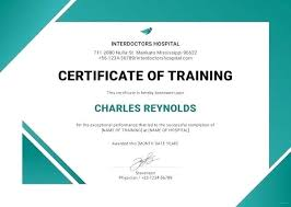 Certificate Of Training Completion Template Course Attendance Certificate Template Course Attendance