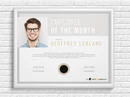 Employee Of The Year Certificate Template Free Employee Of The Month Certificate Template By Hertzel On