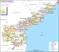 District Lines Size Chart Andhra Pradesh Travel Districts And City Information Map