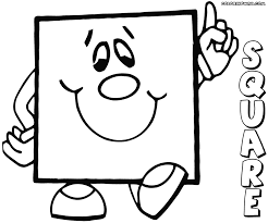 Small Picture Coloring Pages Impressive Square Coloring Pages Color The Shapes