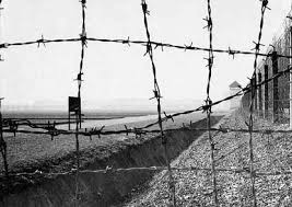 barbed wire fence concentration camp. Exellent Concentration Postcard Picture Of Barbed Wire Fence And Ditch At Former Dachau Concentration  Camp And Barbed Wire Fence Scrapbookpagescom
