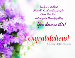 Words For Congratulations Congratulation Messages 365greetings Com